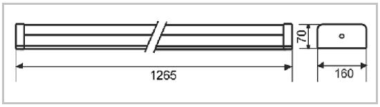 Размеры светильника ССдО 03-030-003 IP20